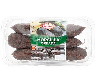 Carnicas Serrano Morcilla oreada de primera sin gluten Bandeja 400 g
