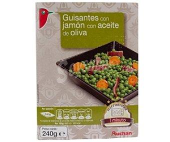 Auchan Guisantes con jamón con aceite de oliva 240 Gramos