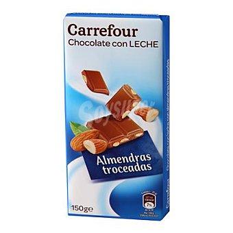 Carrefour Chocolate extrafino con leche y almendras 150 g