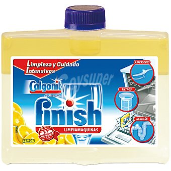 Finish Limpia máquinas de lavavajillas limón Botella 250 ml
