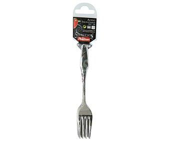 AUCHAN SELECTION Pack de 6 tenedores de postre o aperitivo, fabricados en acero inoxidable 18/10 1 Unidad