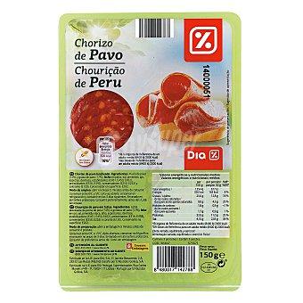 DIA Chorizo de pavo lonchas  Envase 150 g