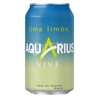 Aquarius Vive Bebida isotónica sabor lima limón Lata 33 cl