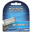 Sword quattro recambio maquinilla Blíster 4 u Wilkinson