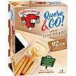 Queso & Go queso fundido para untar sabor semicurado con picos integrales Pack 4 envase 140 g La Vaca que ríe