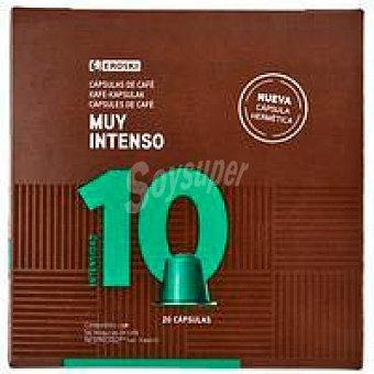 Eroski Café muy intenso eroski, caja 20 monodosis Caja 20 monodosis