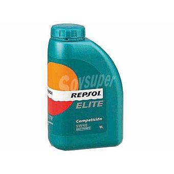 REPSOL Elite Aceite sintético para vehículos con motores de gasolina o diésel competición 1 litro