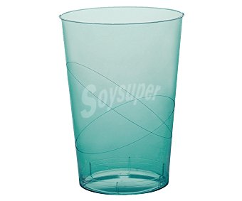 NV CORPORACION Vasos desechables de plástico color azul turquesa 0,30 litros de capacidad 6 unidades