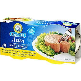BACHI Atún en aceite vegetal neto escurrido Pack 2 latas 52 g