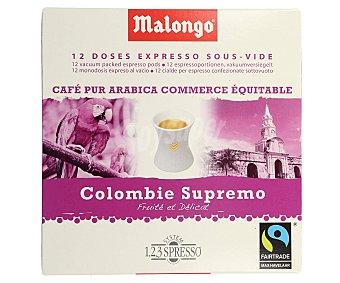 Malongo Café en monodosis de Colombia 12 uds