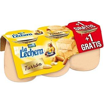La Lechera Nestlé turrón envase 135 g + 1 gratis pack 2 unidades