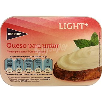 Hipercor Queso para untar ligero Envase 200 g