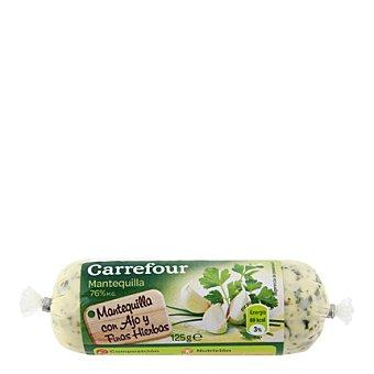 Carrefour Mantequilla con ajo y finas hierbas 125 g