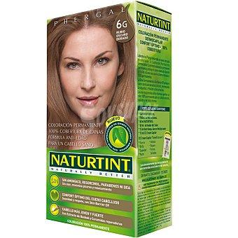 Naturtint Tinte rubio oscuro dorado 6G color permanente sin amoniaco caja 1 unidad 6G