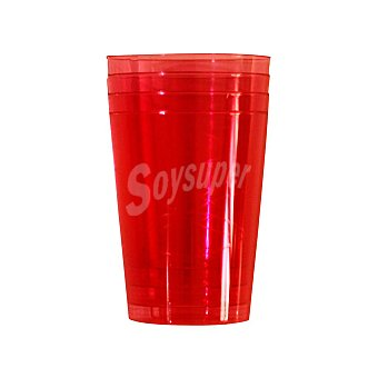Carrefour Home Vaso carrefour -rojo 6 ud