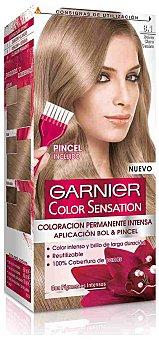 Color Sensation Garnier Tinte rubio claro ceniza nº 8.1 coloración permanente intensa caja 1 unidad pincel gratis Caja 1 unidad