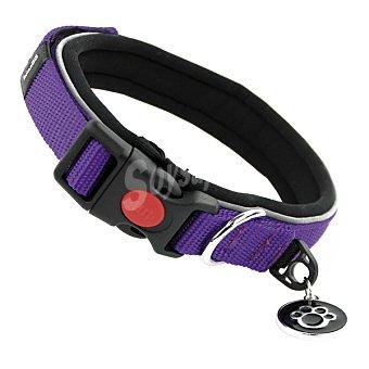 Biozoo Axis Collar nylon reflectante ajustable para perro color morado medidas 23-29 cm 1 unidad