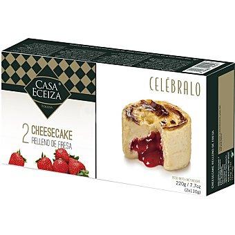 Casa Eceiza Cheesecake relleno de fresa caja 220 g 2 unidades