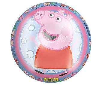 PEEPA PIG Pelota infantil de 23 centímetros decorada con los personajes de la serie 1 unidad