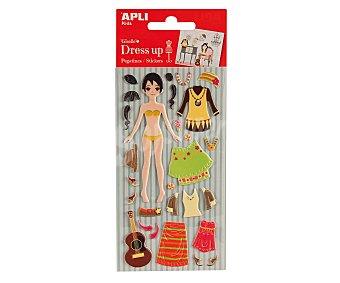 APLI Bolsa de ropa y complementos adhesivos de goma eva para Giselle 1 unidad
