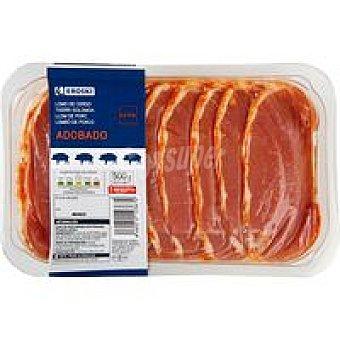 Eroski Filetes de lomo de cerdo adobado Bandeja 500 g