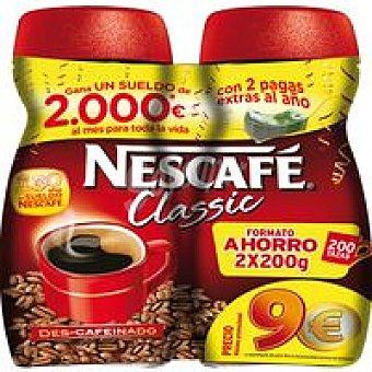 Nescafé Café soluble descafeinado Pack 2x200 g