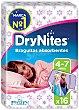 Braguitas absorbentes niña talla 4-7 años Paquete 16 unidades DryNites