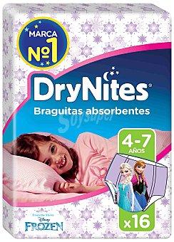 DryNites Braguitas absorbentes niña talla 4-7 años Paquete 16 unidades