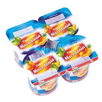 DIA DIA yogur sabor macedonia  pack 4 unidades 125 gr