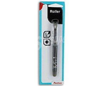 AUCHAN Bolígrafo Roller Color Negro 1 Unidad