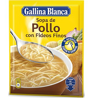 Gallina Blanca Sopa de pollo Fideos finos 1 UNI