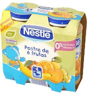 Nestlé Tarrito de postre de 6 frutas Pack de 2 unidades de 250 g