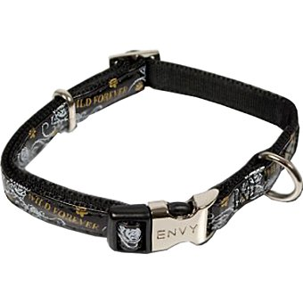 Nayeco Colección Envy Wild for ever collar para perro color negro medidas 35-50 cm x 2 cm 1 unidad