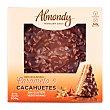 Tarta almendra, caramelo y cacahuete cubierta chocolate 8-10 raciones (redonda) pasteleria congelada sin gluten 1 u - 600 g Almondy