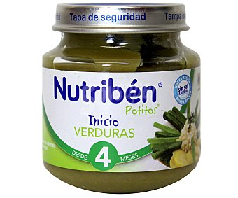 Nutribén Potito de inicio verduras desde 4 meses Tarro 130 g