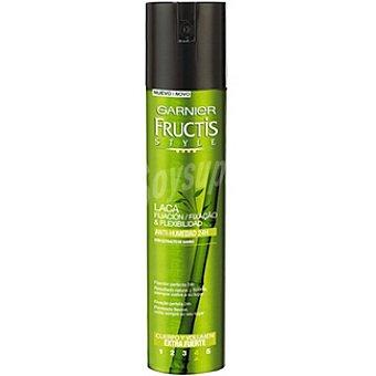 Fructis Garnier Laca volumen y cuerpo con extracto de bambú extrafuerte anti-humedad 24 h Spray 400 ml
