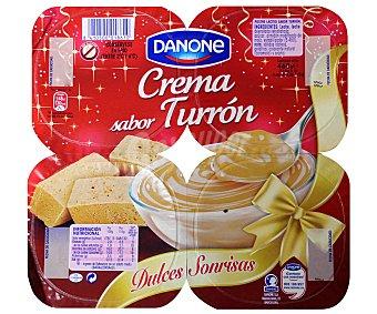 DANONE Crema sabor turrón sin gluten pack de 4 unidades 115 gramos