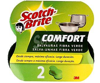 Scotch Brite Salvauñas Fibra con Esponja Confort 2 Unidades