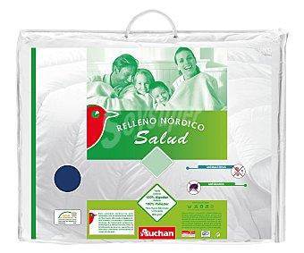 Auchan Relleno nórdico acrílico antiácaros, exterior de algodón, 150 centímetros, color blanco, densidad: 300 gramos 1 Unidad