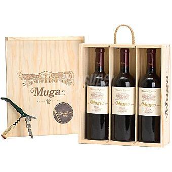 Muga Vino tinto reserva Selección Especial D.O. Rioja Estuche 3 botellas 75 cl