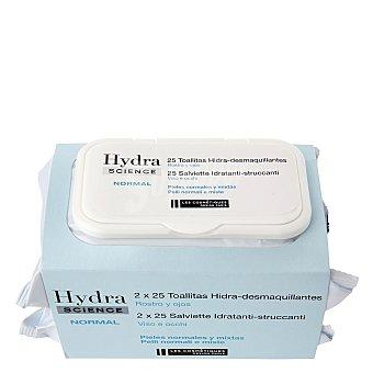 Les Cosmétiques Toallitas Hidra-desmaquillantes para pieles normales y mixtas - Hydra Science Pack 2x25 ud