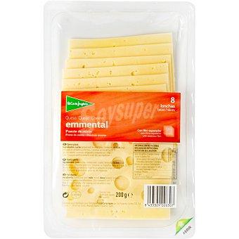 El Corte Inglés queso emmental en lonchas envase 200 g