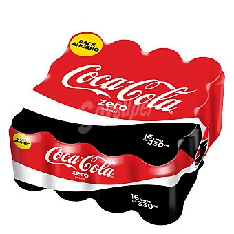 Coca-Cola Refresco de cola zero Pack 16x33 cl