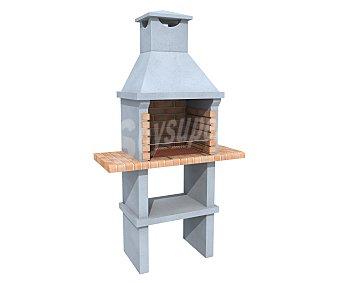 BRICOCIMENTOS Maputo Barbacoa de ladrillo y cemento refactario ideal para jardín, 190x109x44cm, bricocimentos