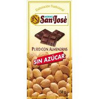 Horno San José Chocolate con almendras sin azùcar Tableta 150 g