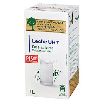 Carrefour Leche desnatada Brik de 1 L