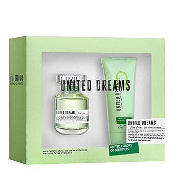 United Colors of Benetton Estuche colonia United Dreams Live Free spray 80 ml. + body lotion 100 ml. 1 ud