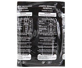 Auchan Jamón Serrano en Finas Lonchas 120 Gramos