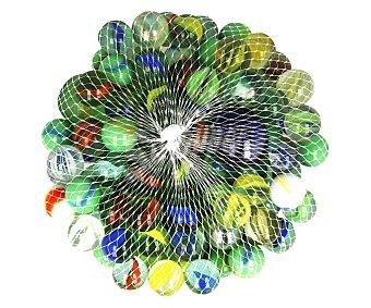 Juguete exterior Bolsa con canicas de vidrio de diferentes colores exterior