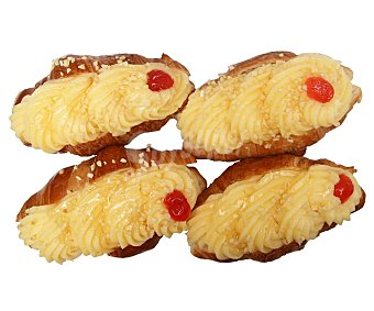 Croissant relleno de crema 4 uds